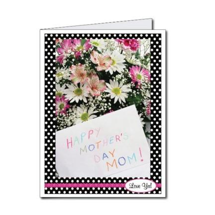 Mother's Day Polka Dot Design Giant Card - Stock Design - Free Shipping