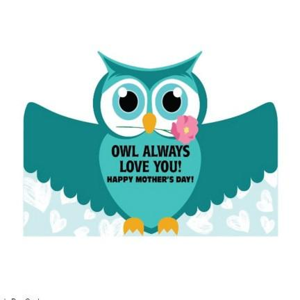 Mother's Day Owl Giant Card - Stock Design - Free Shipping