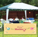 Happy Mother's Day 2'x6' Vinyl Banner-Peach Background