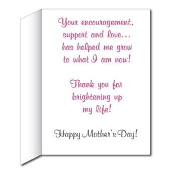 Giant Mother's Day Card - Stock Design - Pink with Presents - Free Shipping