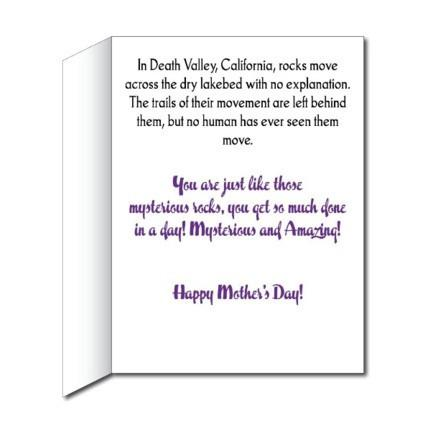 Mother's Day Mysterious and Amazing Giant Card - Stock Design - Free Shipping
