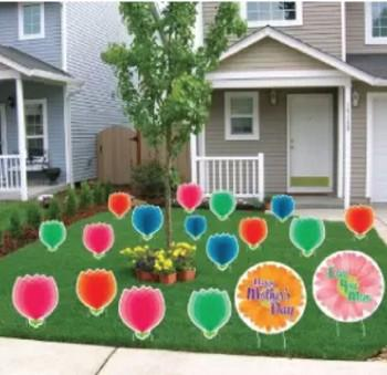 Mother's Day Yard Card Set - 18 pcs