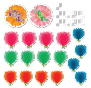 Mother's Day Yard Card Set - 18 pcs with 36 short stakes