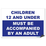 Must Be Accompanied by an Adult Pool Sign or Sticker - #1