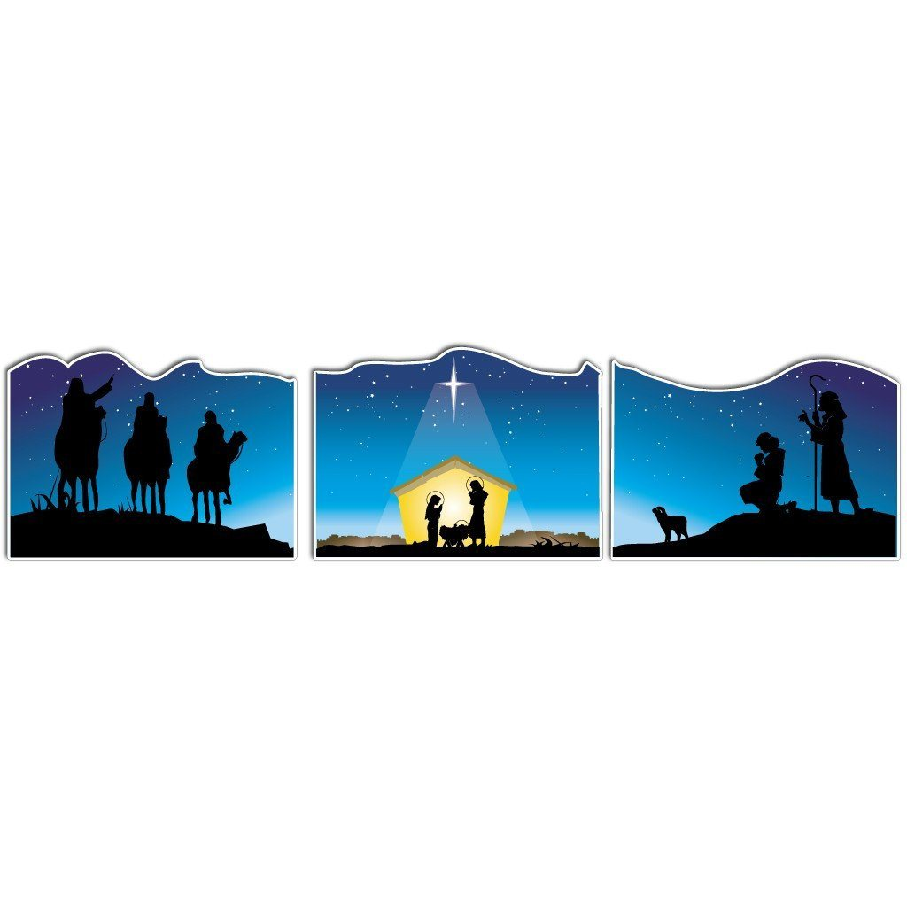 Nativity Christmas Yard Sign Display #1 - 3 Pieces - FREE SHIPPING