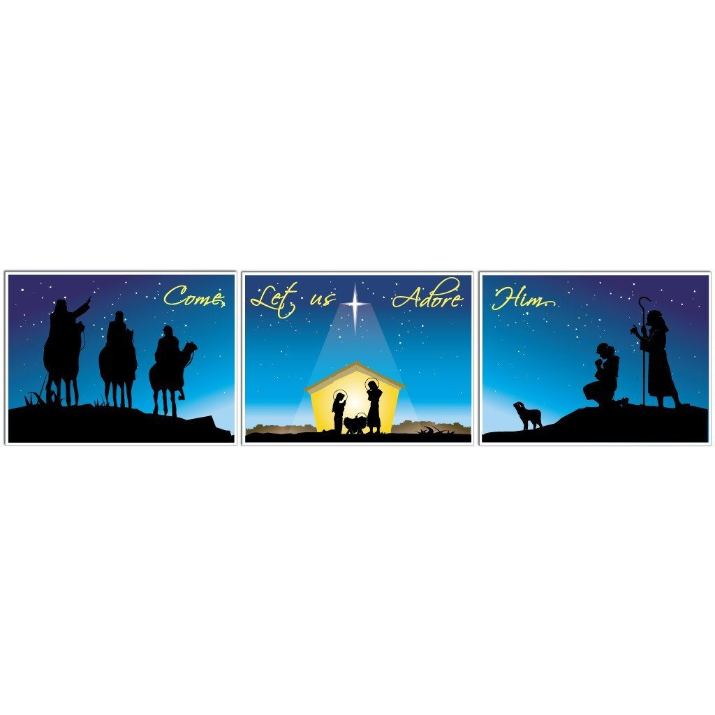 Nativity Christmas Yard Sign Display #3 - 3 Pieces - FREE SHIPPING