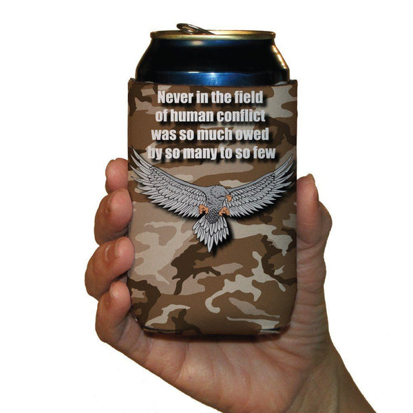 Military Can Cooler Set -6 designs- Set of 6 - FREE SHIPPING