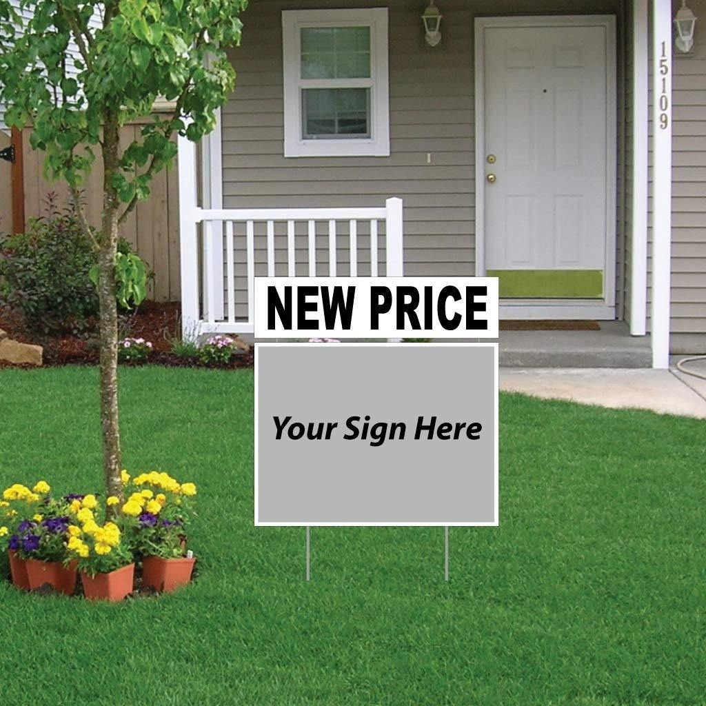 New Price Real Estate Yard Sign Rider Set - FREE SHIPPING