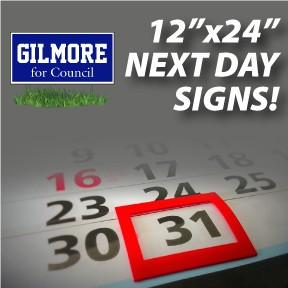 "Next Day Signs - 12""x24"""