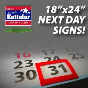 "Next Day Signs - 18""x24"""