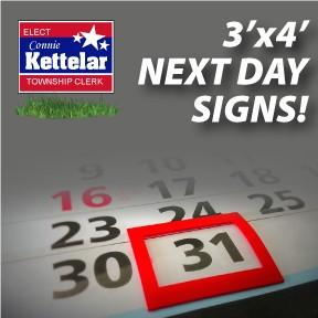 Next Day Yard Signs - 3'x4'