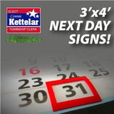 Next Day Signs - 3'x4'