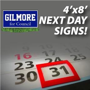 Next Day Yard Signs - 4'x8'