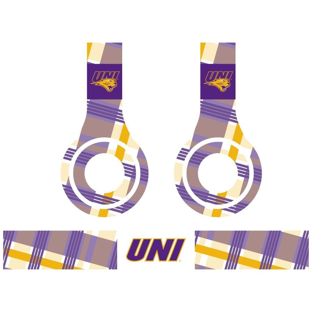 University of Northern Iowa - Set of 3 Patterns - Skins for Beats Solo HD - FREE SHIPPING
