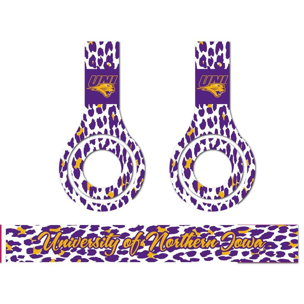 University of Northern Iowa -3 Animal Patterns - Skins for Beats Solo HD
