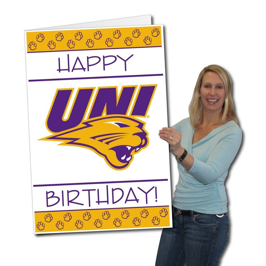 University of Northern Iowa 2'x3' Giant Birthday Greeting Card Plus a bonus Yard Sign! - FREE SHIPPING