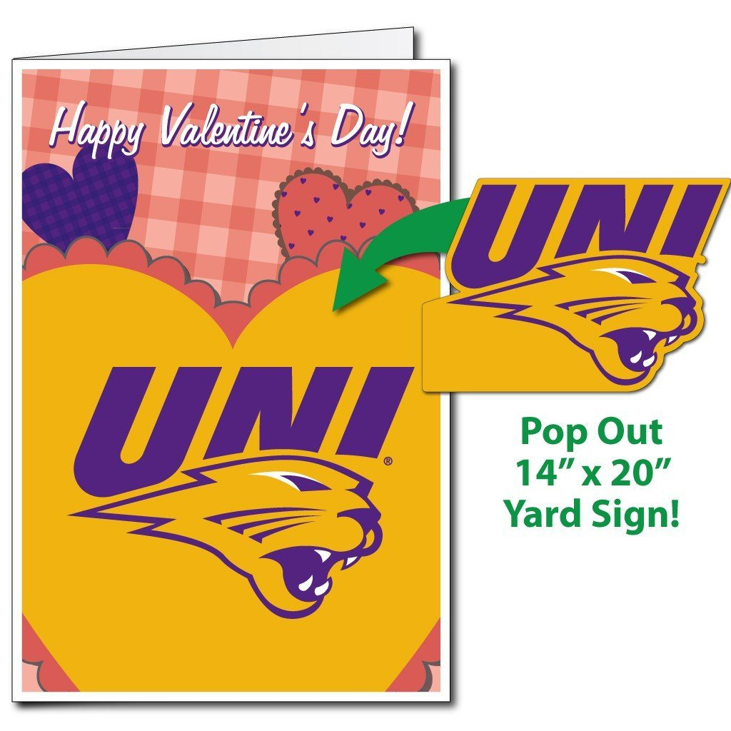 2x3 University Of Northern Iowa Giant Valentines Card Yard Sign