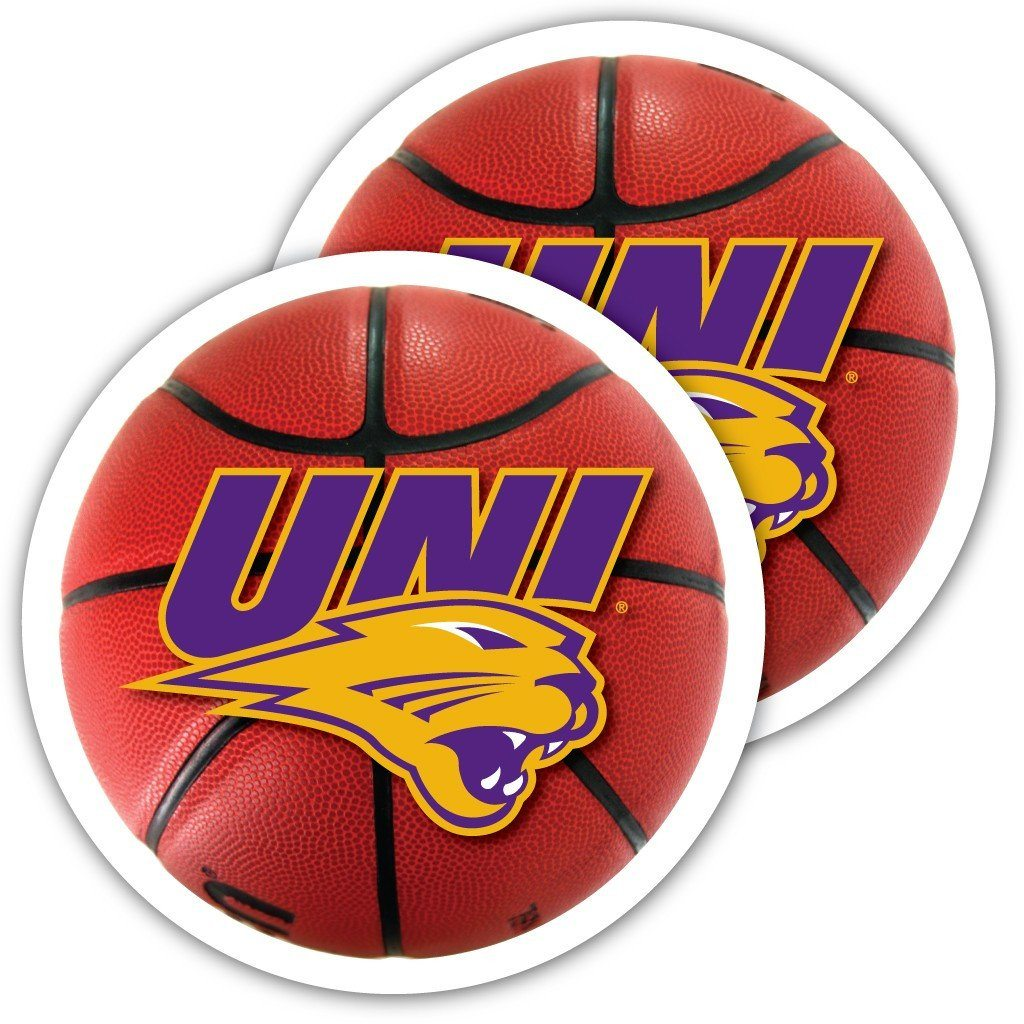 University of Northern Iowa Basketball Window Decal (Set of 2)