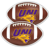 University of Northern Iowa Football Window Decal (Set of 2)