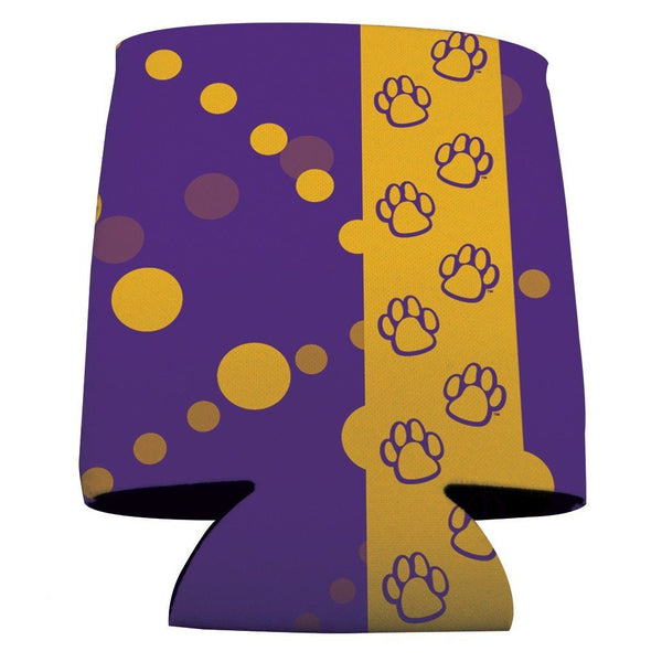 "University of Northern Iowa Can Cooler "" Paw Prints Design"