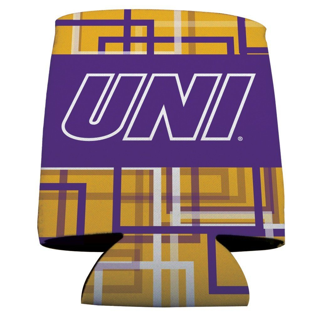 University of Northern Iowa Can Cooler - Squares Design - FREE SHIPPING
