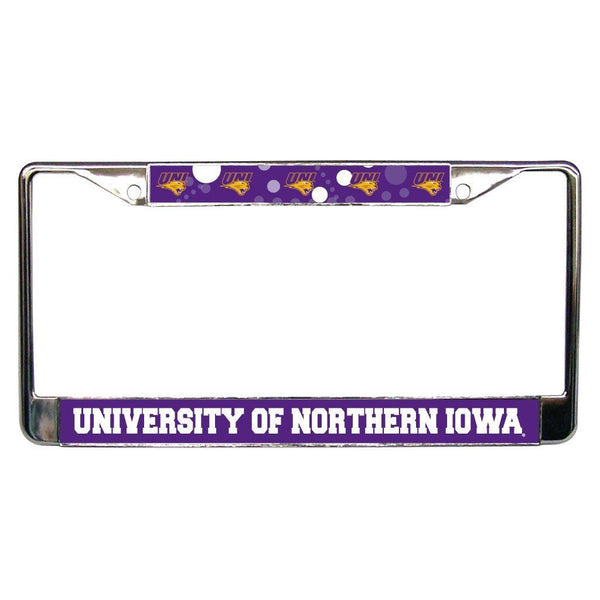 University of Northern Iowa - License Plate Frame - Circles Design