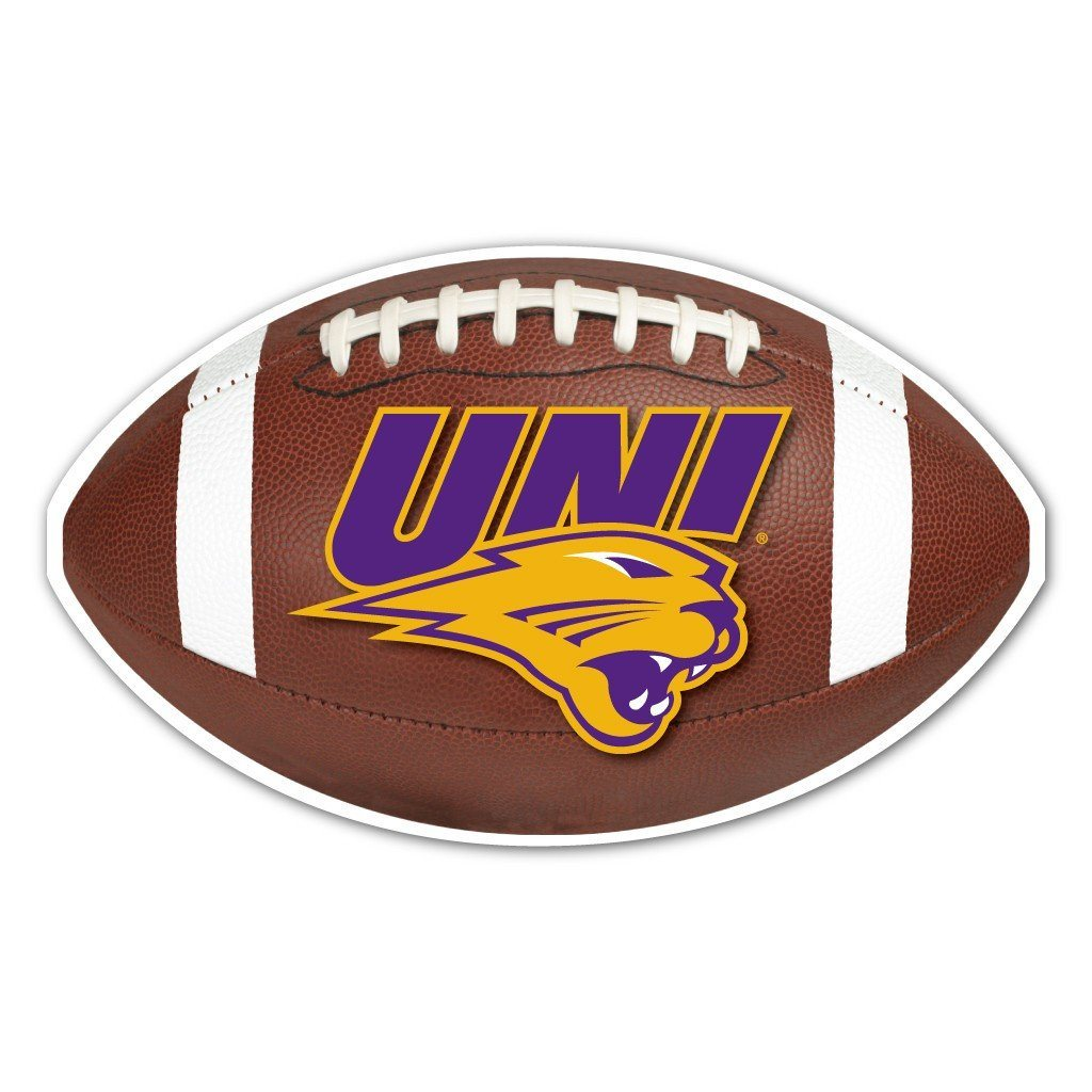 University of Northern Iowa Football Shaped Magnet