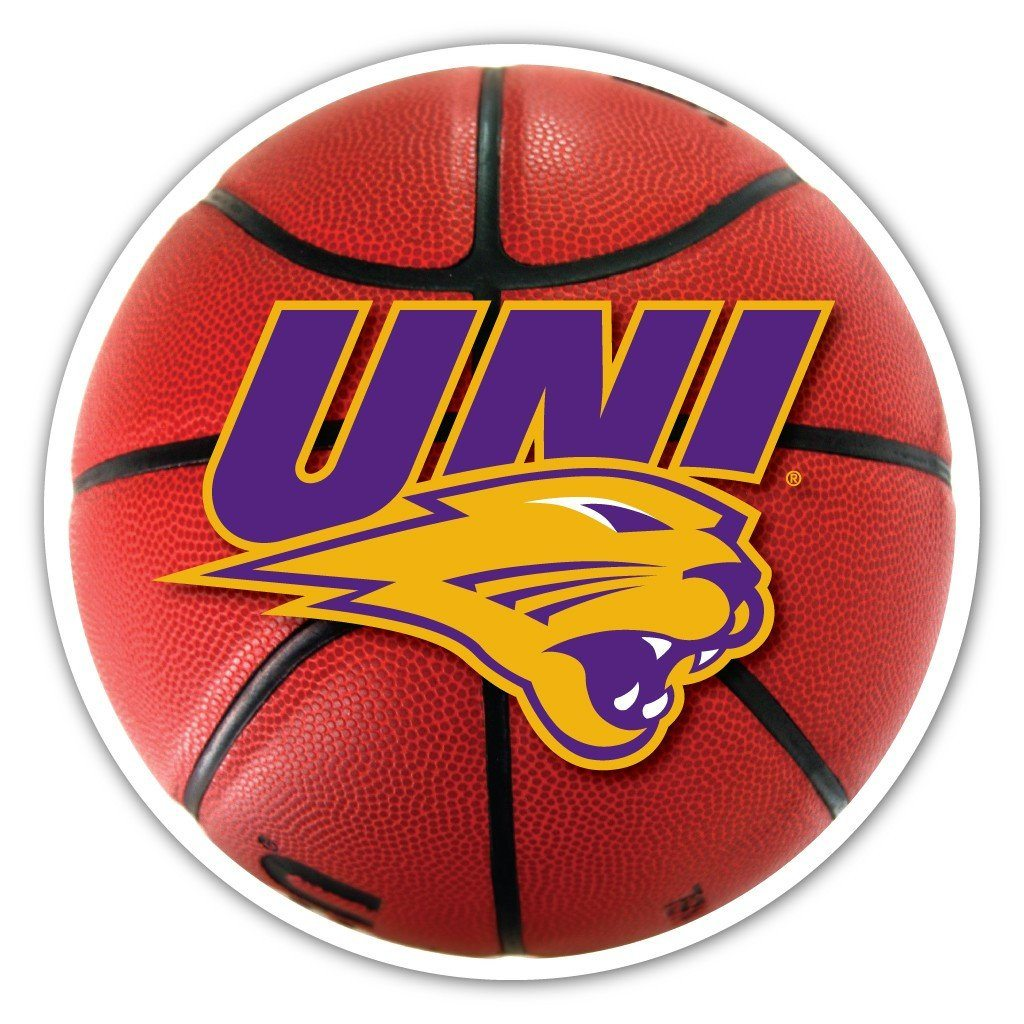 University of Northern Iowa Basketball Shaped Magnet