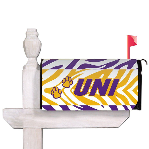 University of Northern Iowa Magnetic Mailbox Cover - Zebra Stripes
