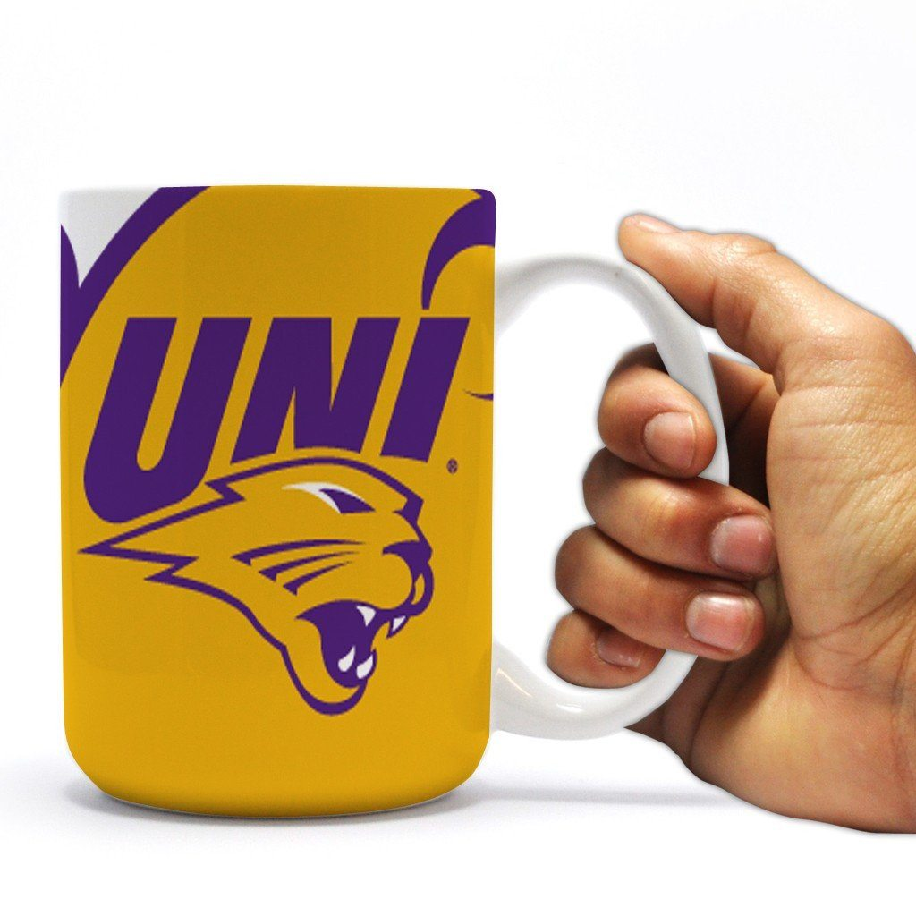 University of Northern Iowa 15oz Coffee Mug - Circles Design