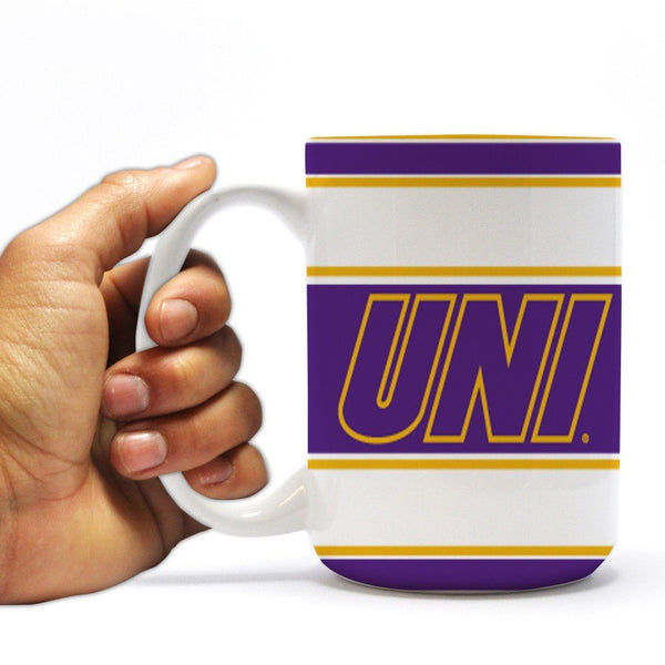University of Northern Iowa 15oz Coffee Mug - Stripes Design