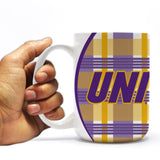 University of Northern Iowa 15oz Coffee Mug - Plaid Design