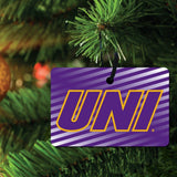 University of Northern Iowa Ornament - Set of 3; Circle, Rectangle,