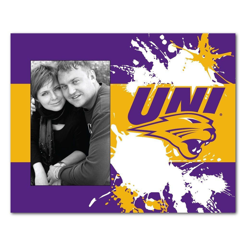 University of Northern Iowa Picture Frame - Paint Splatter Design