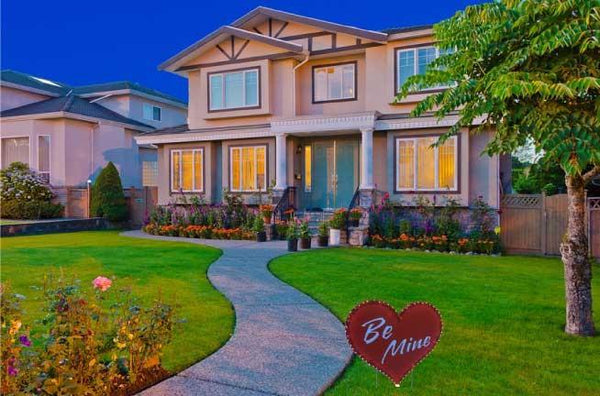 Lighted 'Be Mine' Heart Yard Card - Free Shipping