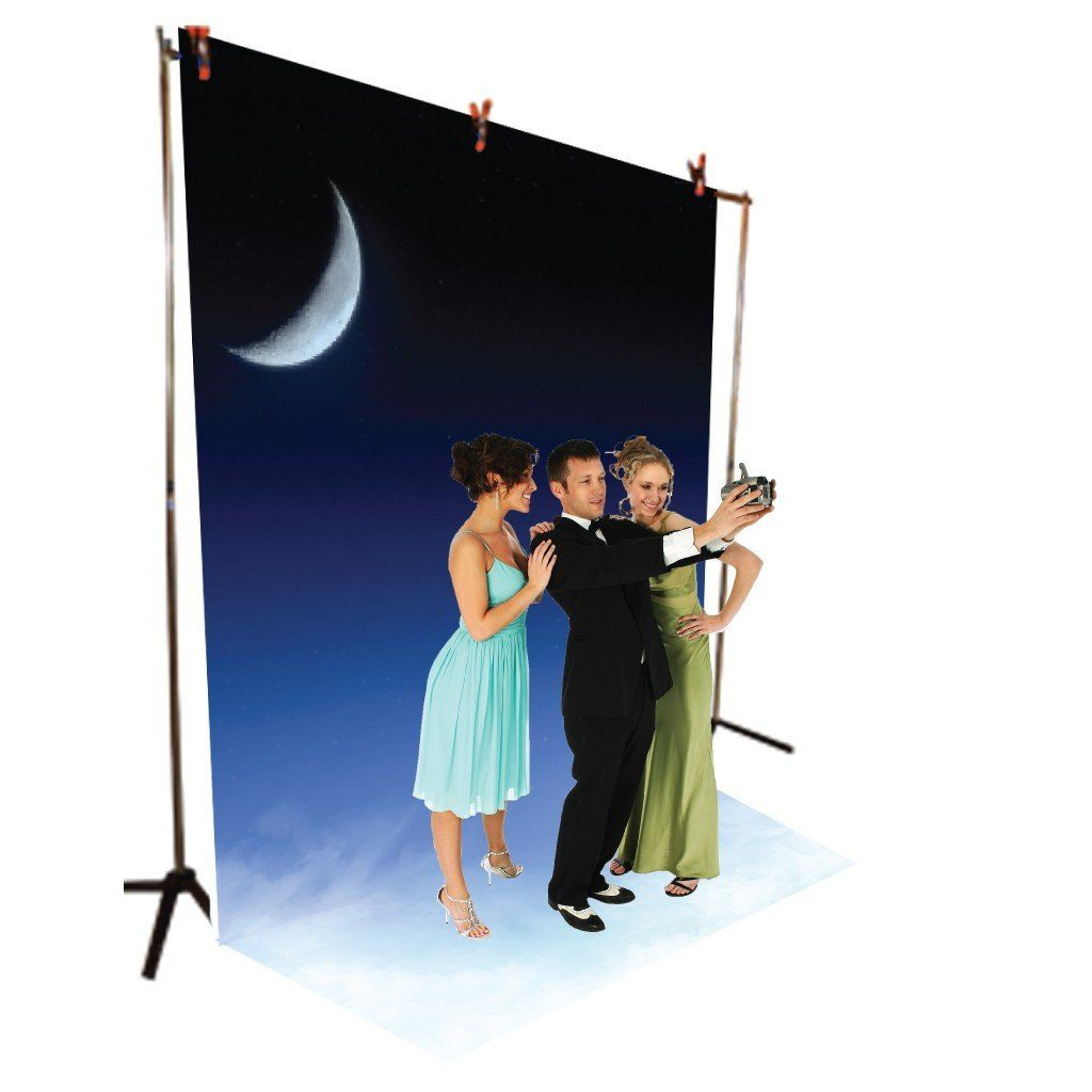 Night Sky Vinyl Photography Backdrop - 8'x10' or 8'x14'