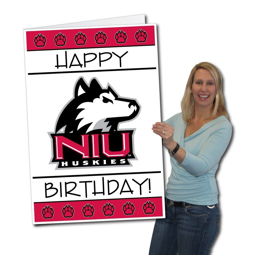 Northern Illinois University 2'x3' Giant Birthday Greeting Card Plus a Bonus Yard Sign! - FREE SHIPPING