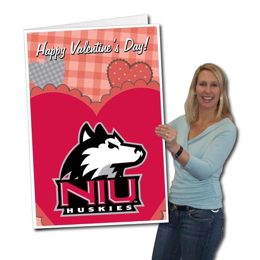 Northern Illinois University 2'x3' Giant Valentines Greeting Card Plus a Bonus Yard Sign! - FREE SHIPPING
