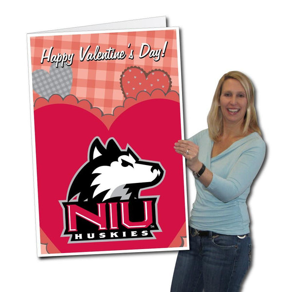 Northern Illinois University 2'x3' Giant Valentines Greeting Card Plus