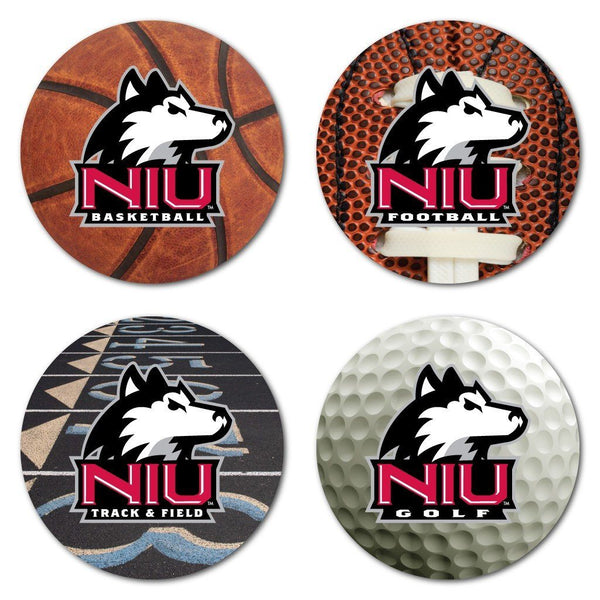 Northern Illinois University Coaster Set - Sports Design - Set of 4