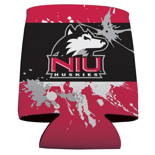 Northern Illinois University Can Coolers - Paint Splatter Design