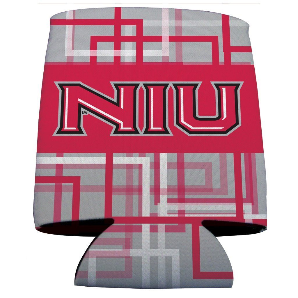 Northern Illinois University Can Coolers - Plaid Design