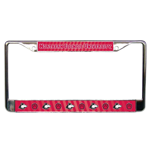 Northern Illinois University - License Plate Frame - Stripes Design