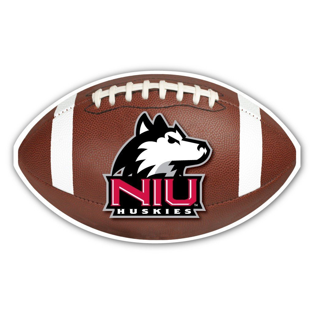 "Northern Illinois University "" Football Shaped Magnet"