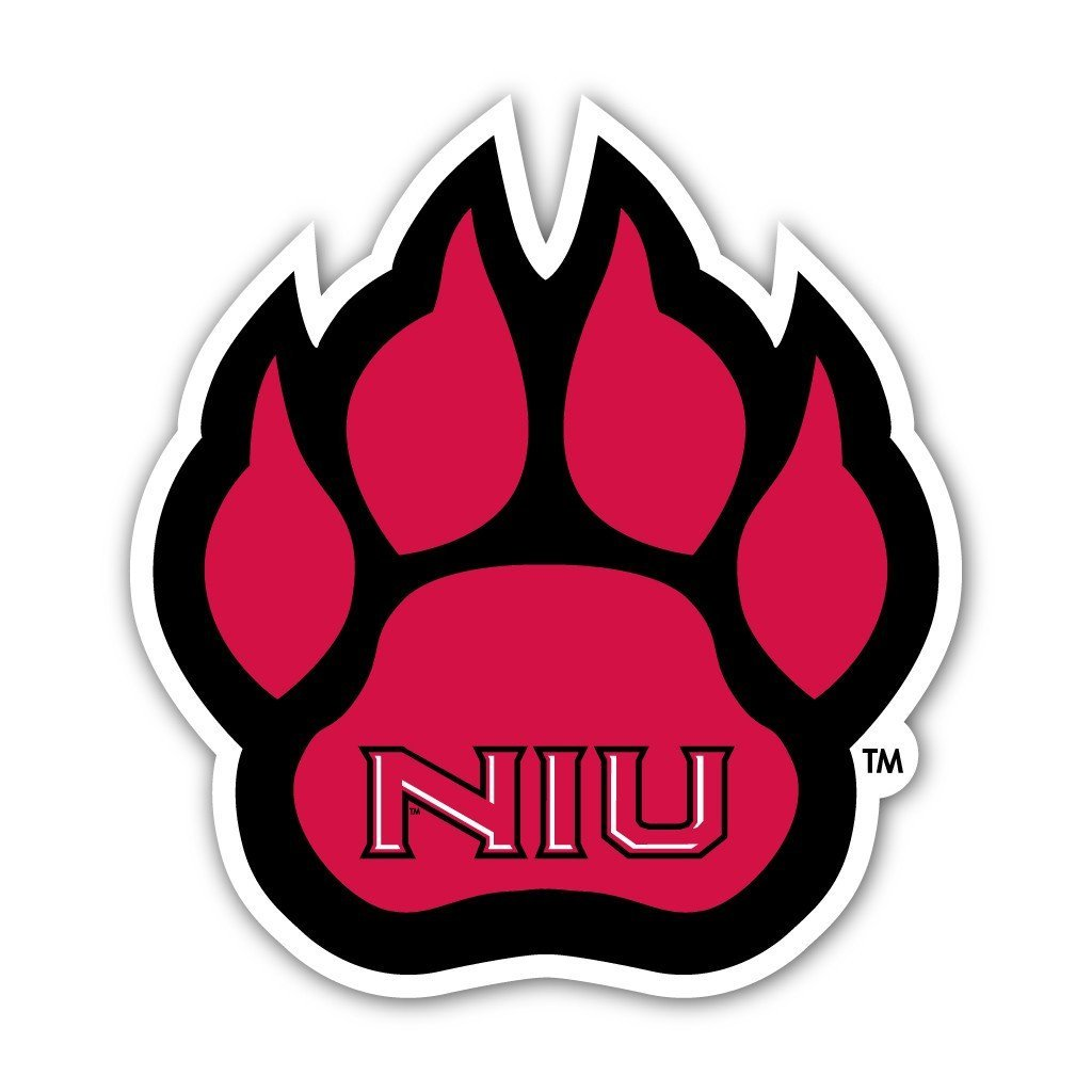 "Northern Illinois University "" Paw Shaped Magnet"