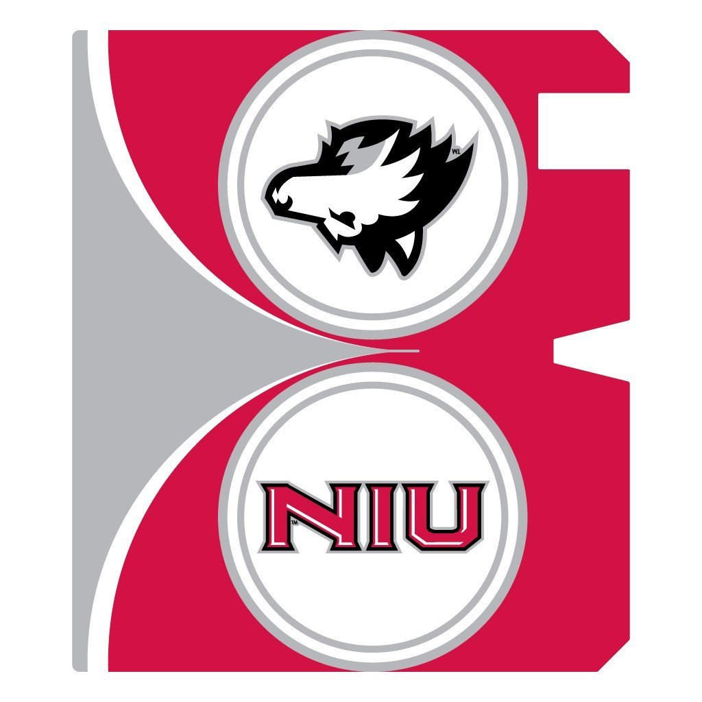 Northern Illinois University Magnetic Mailbox Cover - Circle Design