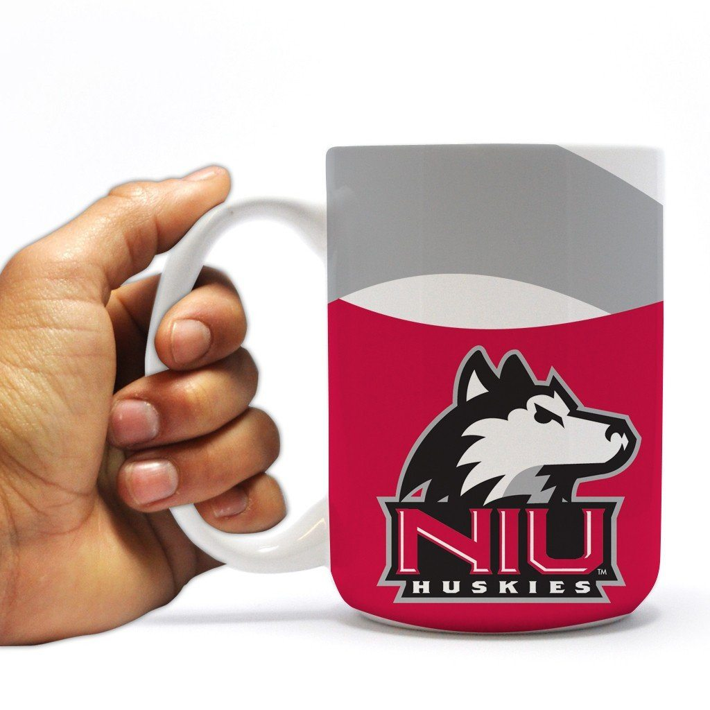 "Northern Illinois University 15oz Coffee Mug "" Waves Design"