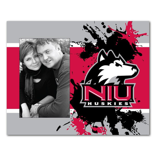 "Northern Illinois University Picture Frame "" Paint Splatter Design"