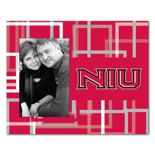 "Northern Illinois University Picture Frame "" Squares Design"
