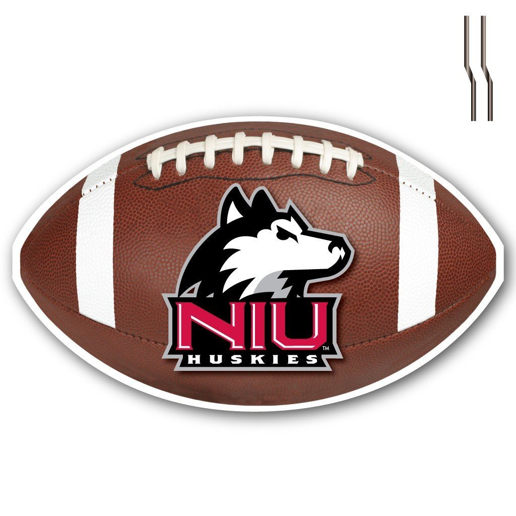 Northern Illinois University Football Shaped Plastic Yard Sign - FREE SHIPPING